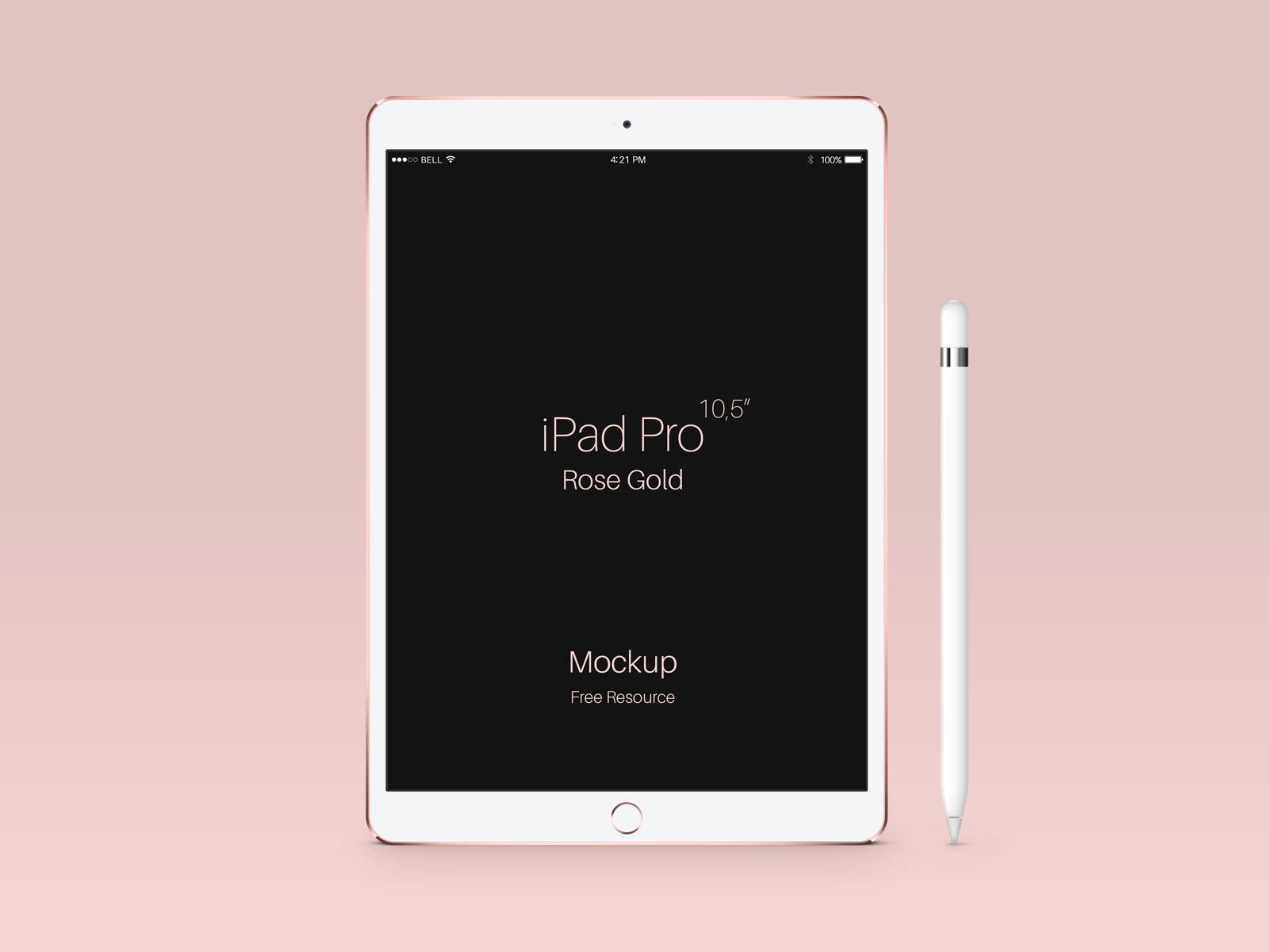 Free-Apple-iPad-Pro-Rose-Gold-Mockup-PSD