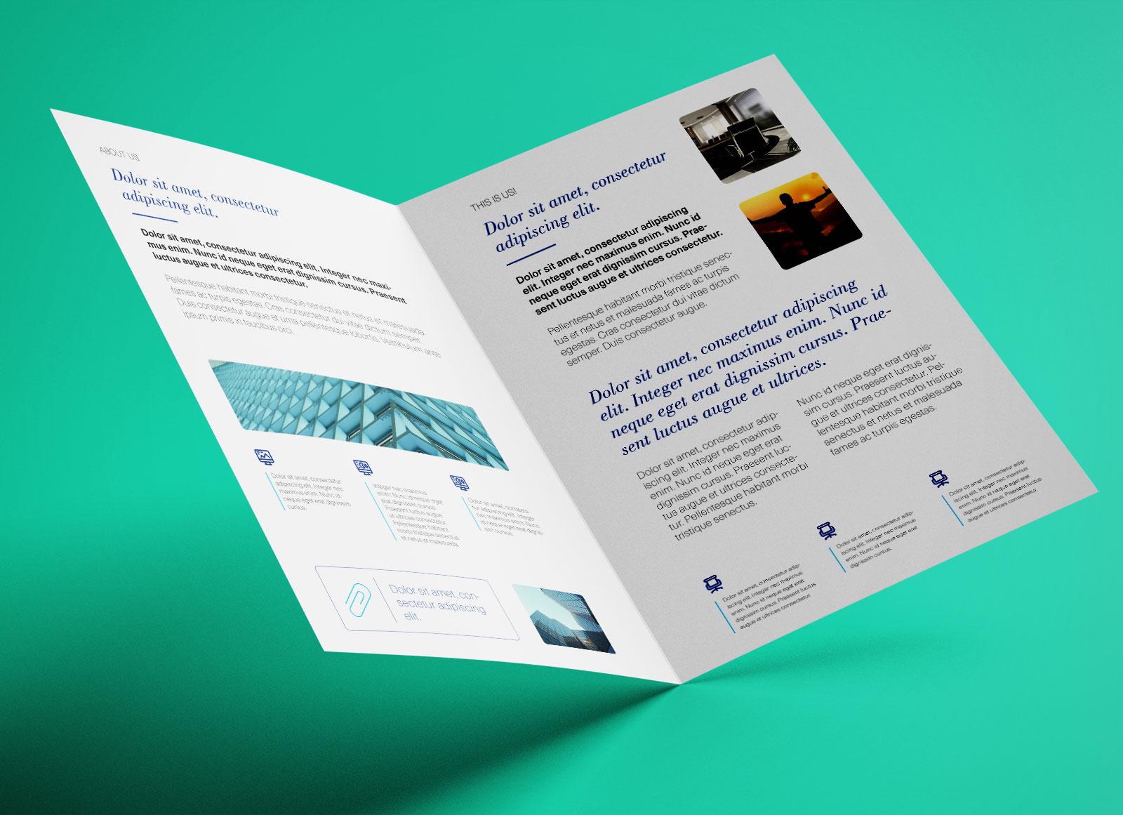 2 Page Brochure >> Free Bi Fold A4 Brochure Mockup Psd Good Mockups