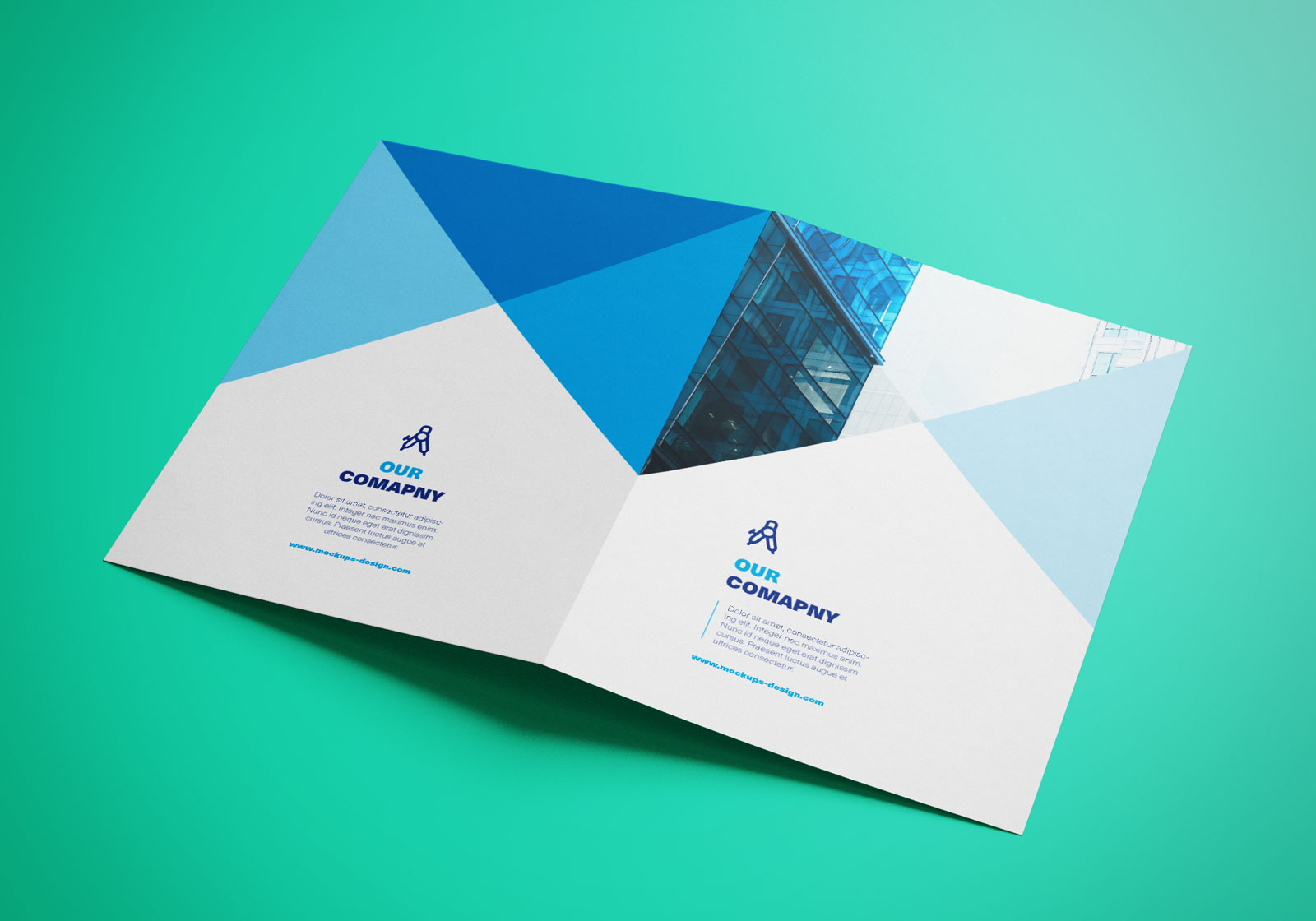 Free bi fold a4 brochure mockup psd good mockups for Brochure design mockup
