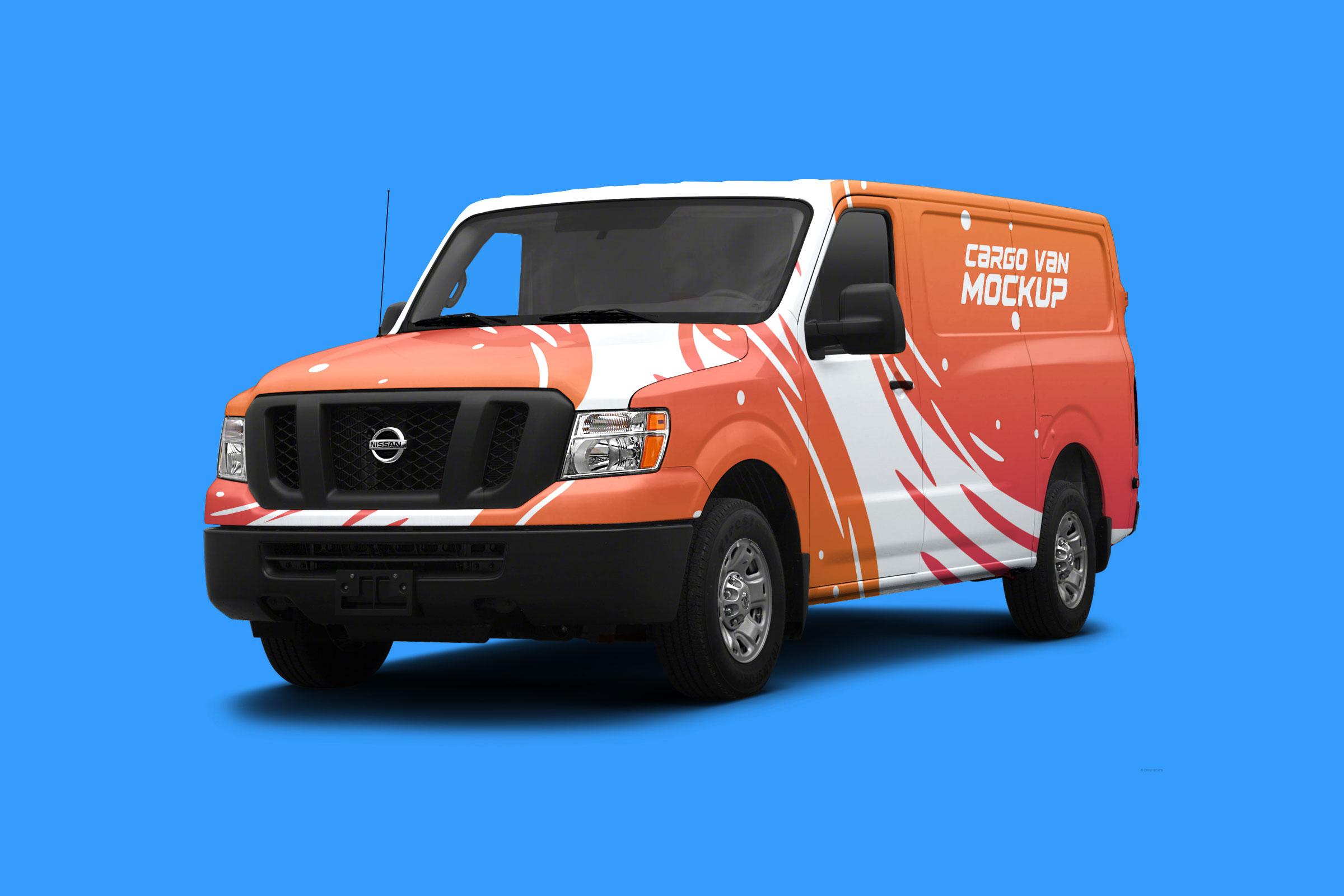 Free-Cargo-Van-Mockup-PSD-File
