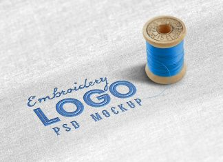 Free-Cloth-Fabric-Embroidery-Logo-Mockup-PSD