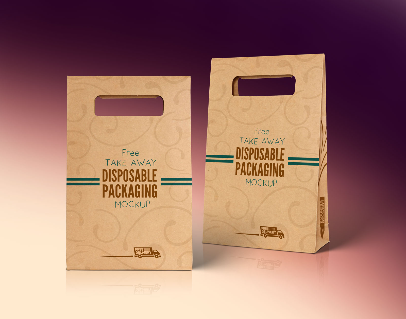 Free-Kraft-Paper-Disposable-Food-Bag-Packaging-Mockup-PSD-File