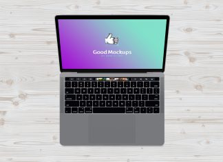 Free-Macbook-Pro-Top-View-Mockup-PSD