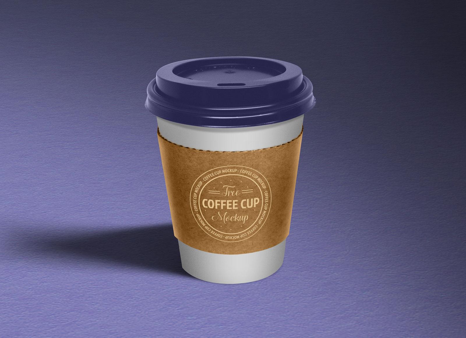 Free Paper Coffee Cup Sleeve Mockup PSD - Good Mockups
