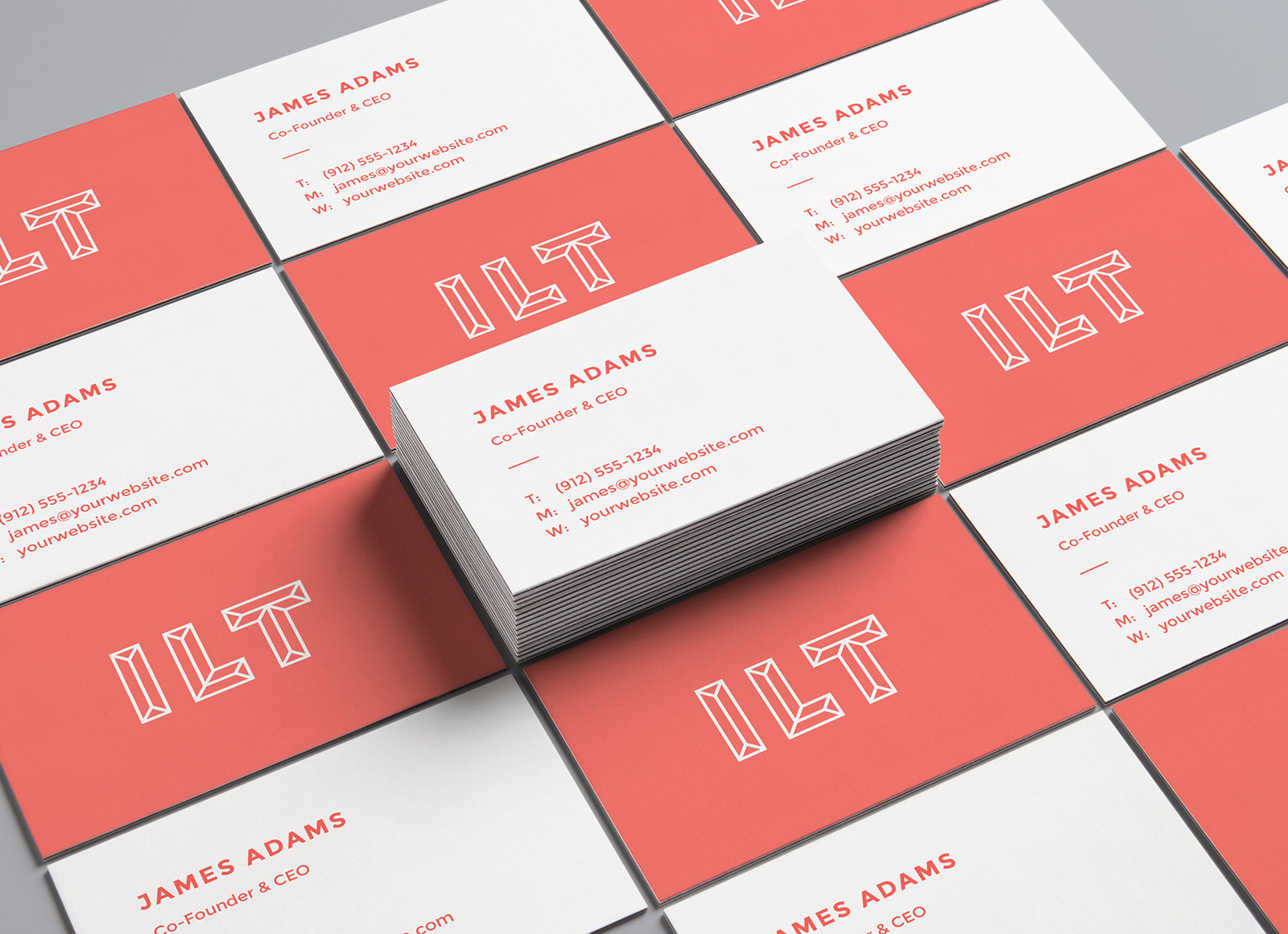 Free Perspective Business Card Mockup PSD Presentation - Good Mockups