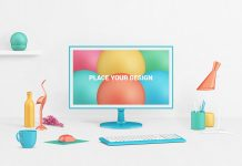 Free-Photorealistic-LCD-Monitor-Mockup-PSD-with-Decor-Items
