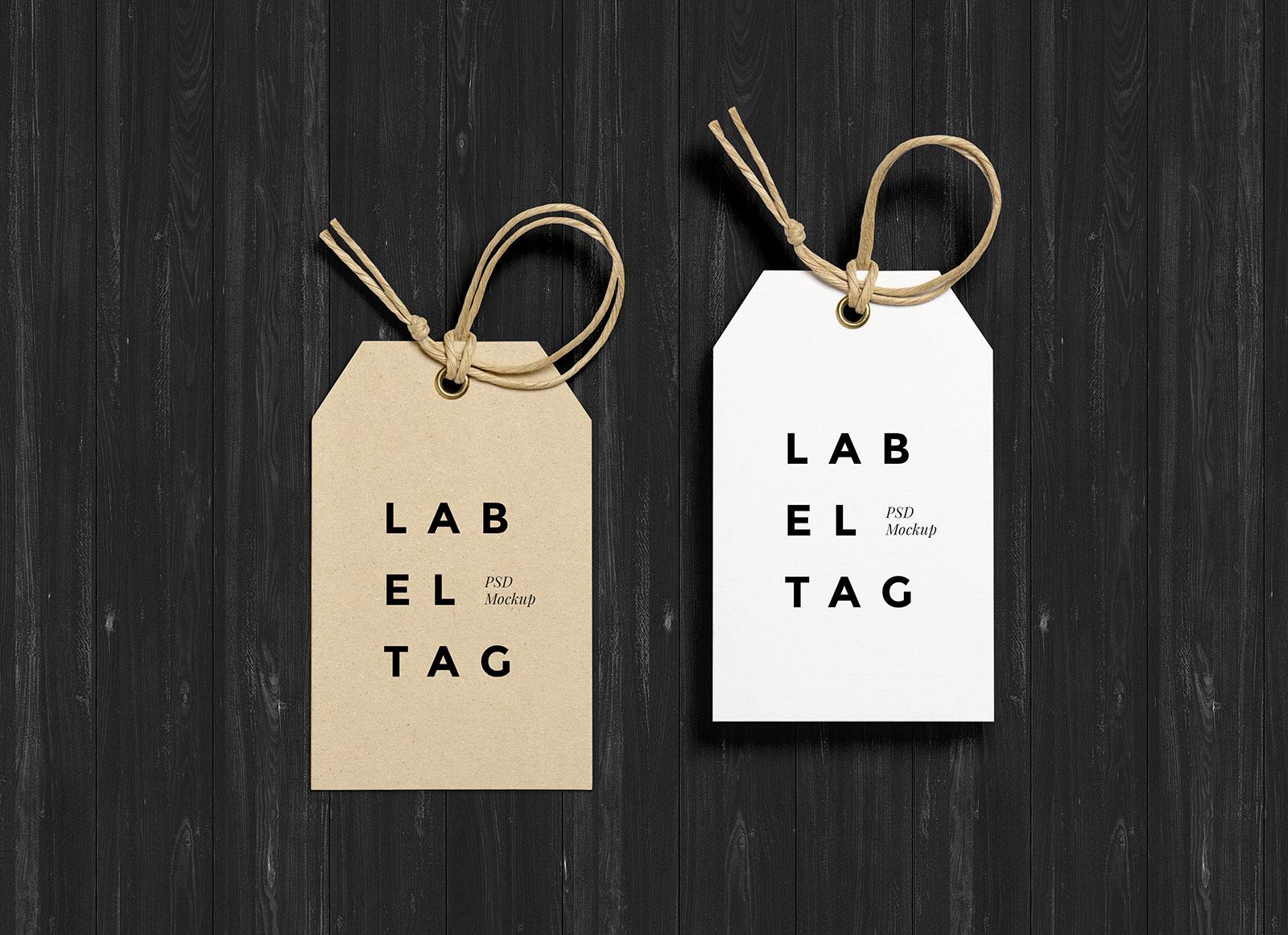 Free Photorealistic Paper Hang Tag Mockup Psd Good Mockups