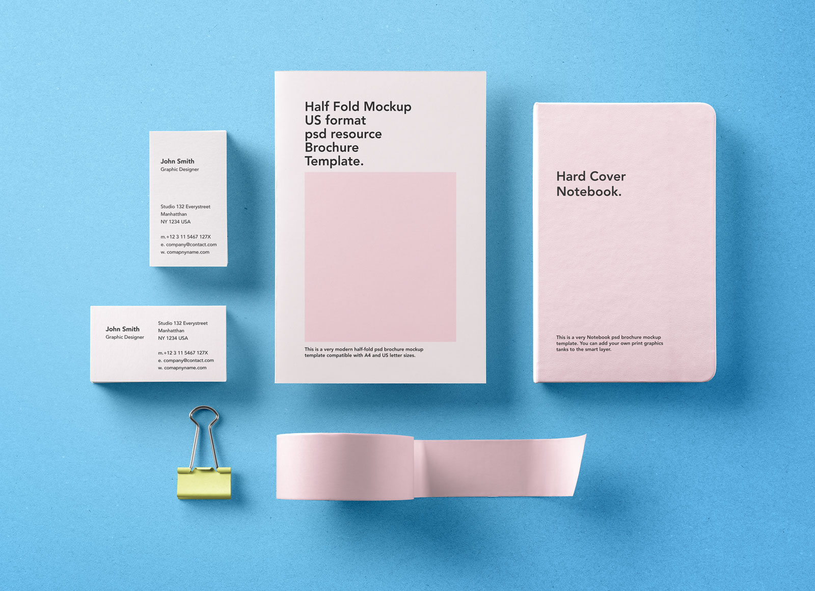 Free Premium Basic Stationery Branding Template Mockup PSD Good - Basic brochure template