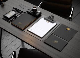Free-Premium-Black-Stationery-Mockup-PSD-File