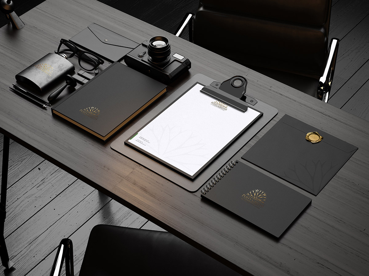 Free Premium Black Stationery Mockup Psd Good Mockups