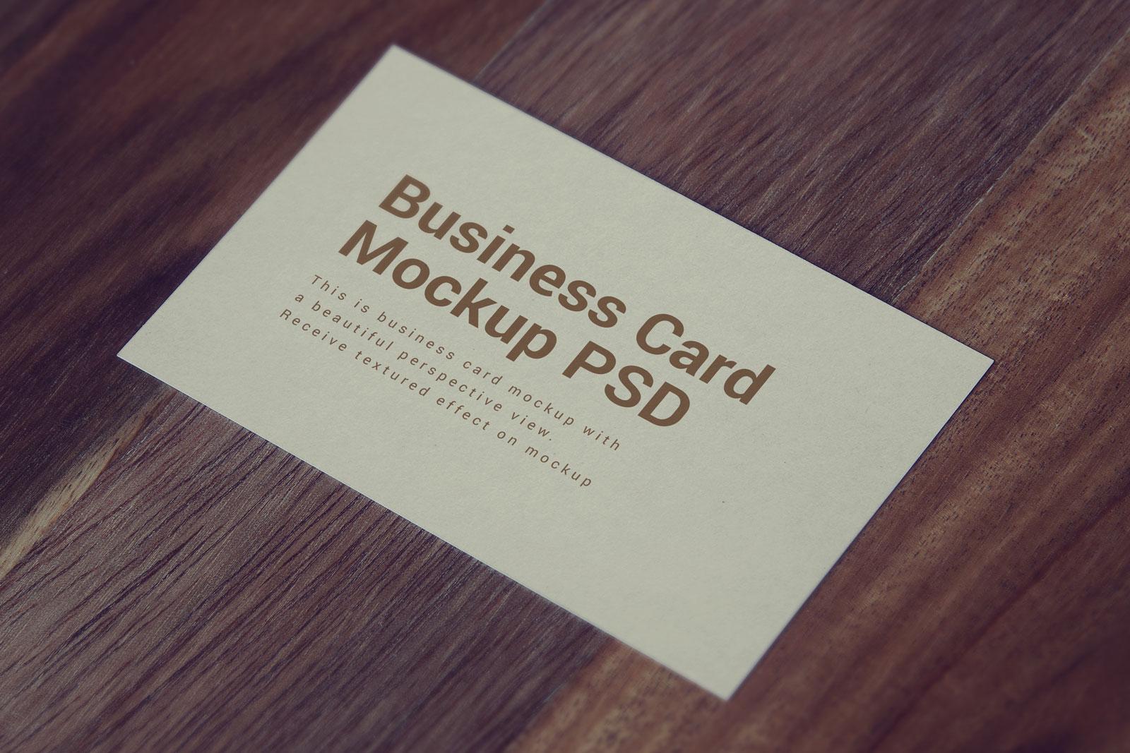blank business card design mockup psd file free download - HD1600×1067