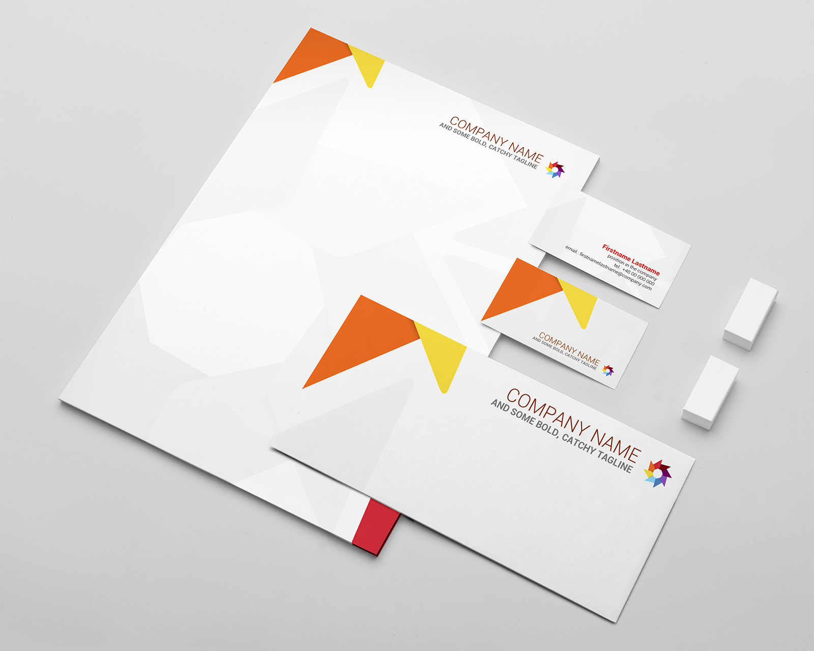 Free Stationery Mockup Template PSD