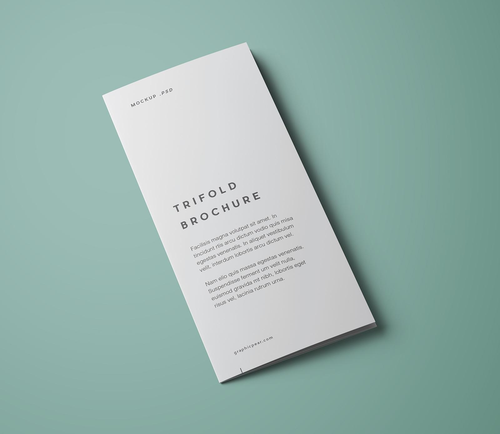 Free premium tri fold brochure mockup psd good mockups for 3 fold brochure template psd