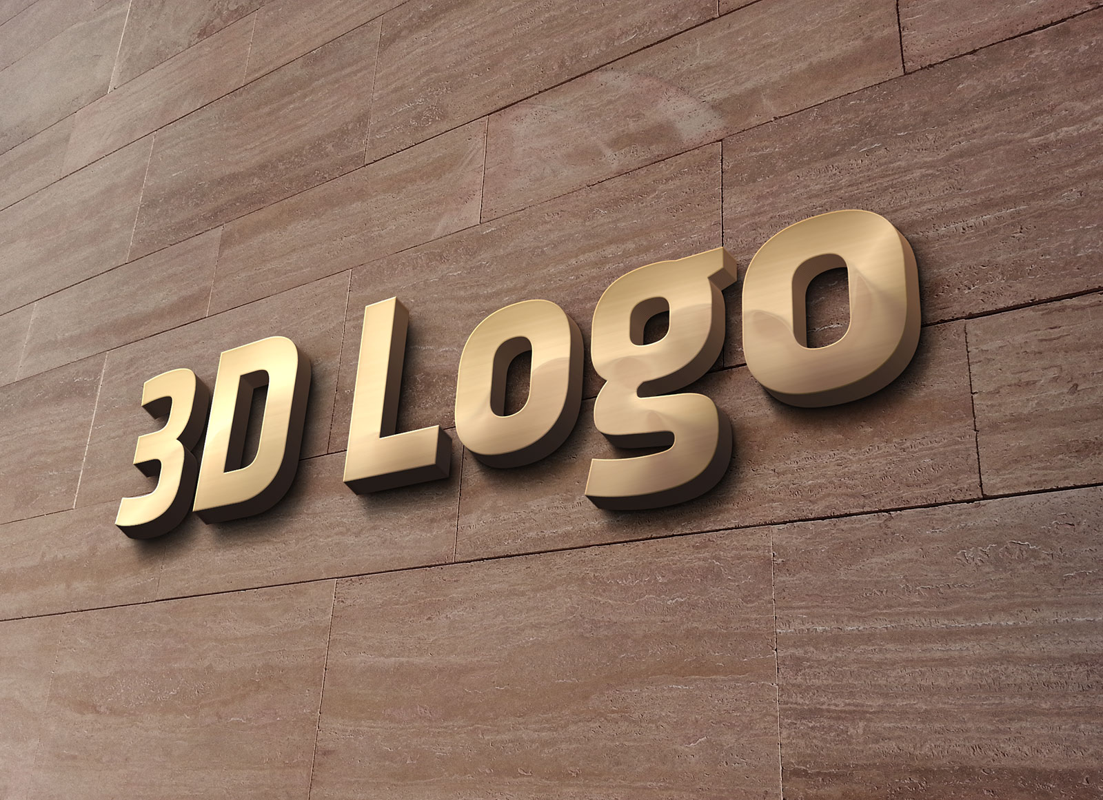 Free 3d office wall sign logo mockup psd good mockups for Office logo