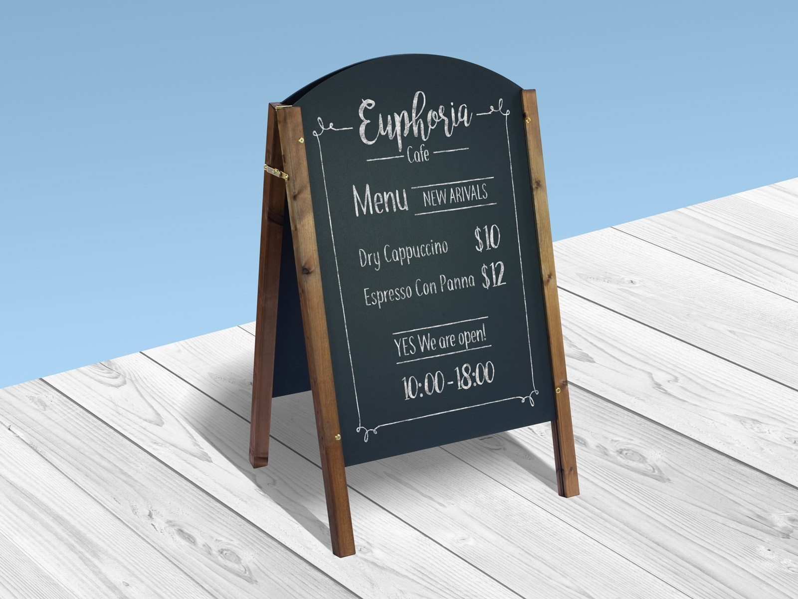 Well-known Free A-Stand Wooden Chalkboard Mockup PSD - Good Mockups PJ23