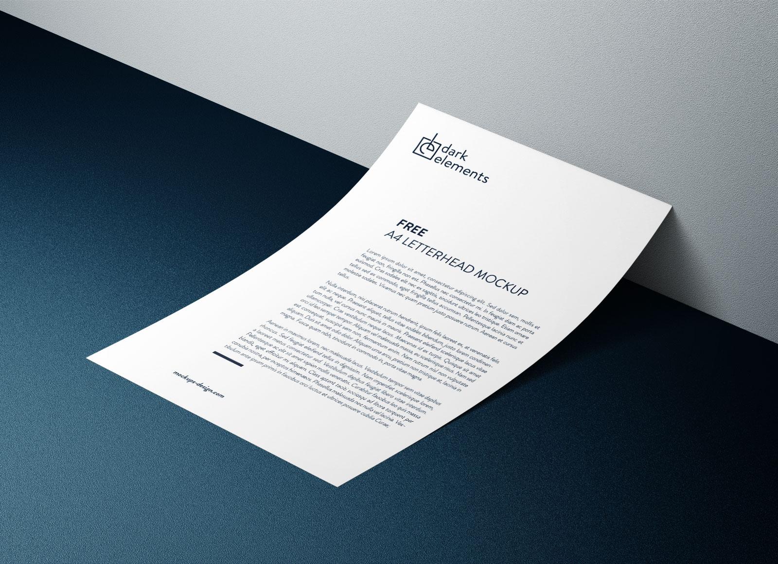 Free-A4-Letterhead-Paper-Mockup-PSD