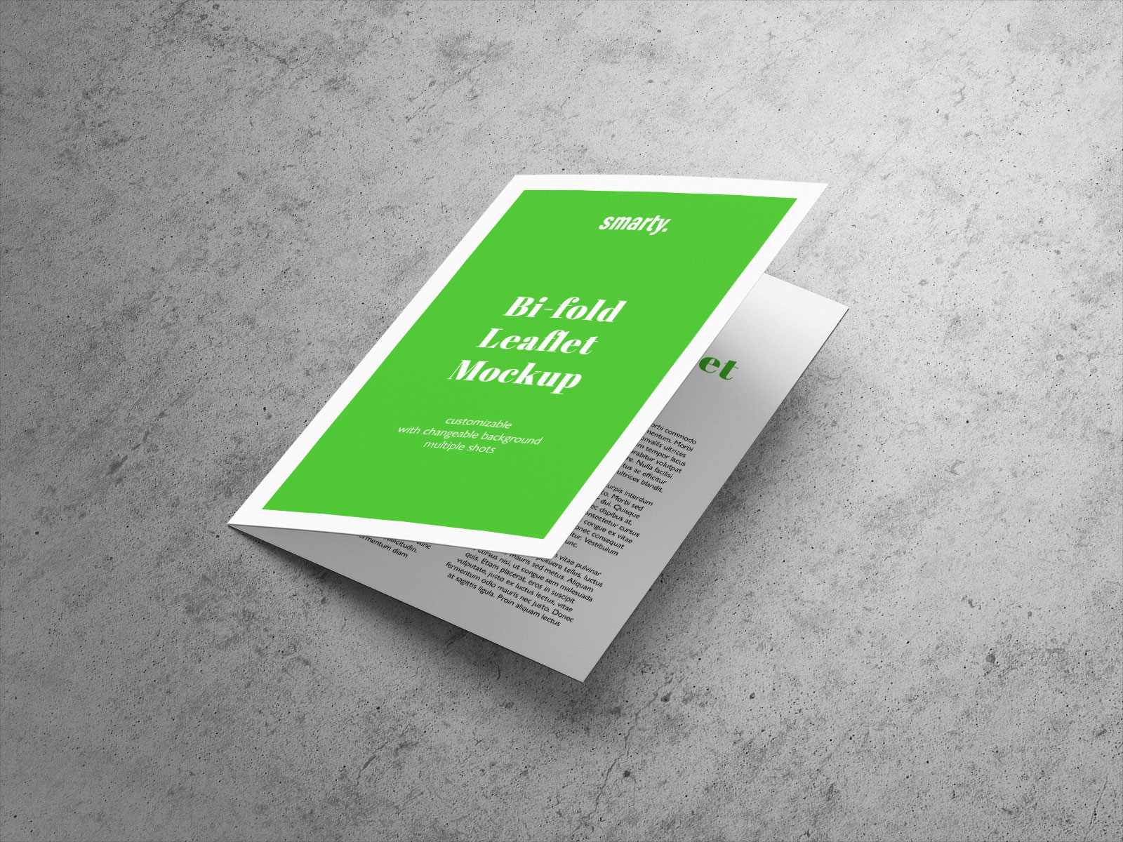 Free A5 Bi Fold Brochure Leaflet Mockup Psd on computer generated artwork
