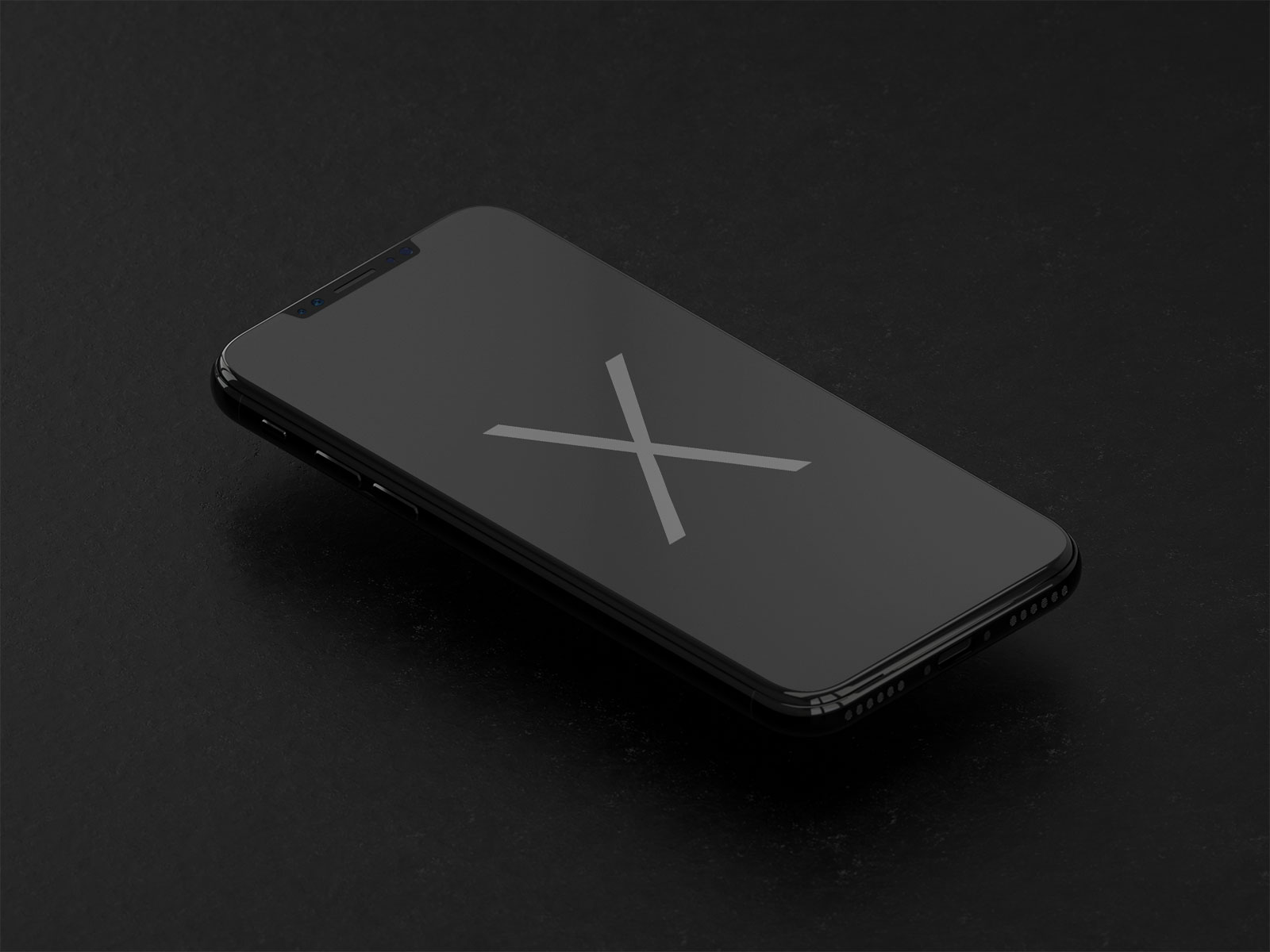 Free Apple iPhone X Black Mockup PSD | 3D Render - Good Mockups