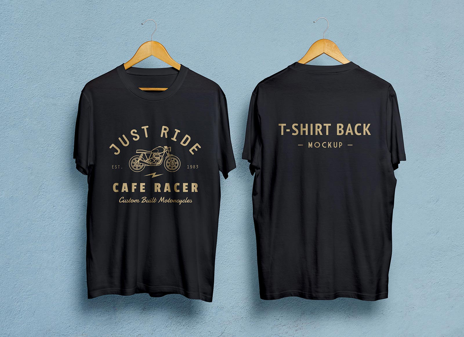 Free Black White Half Sleeves T Shirt Mockup Psd Front Back