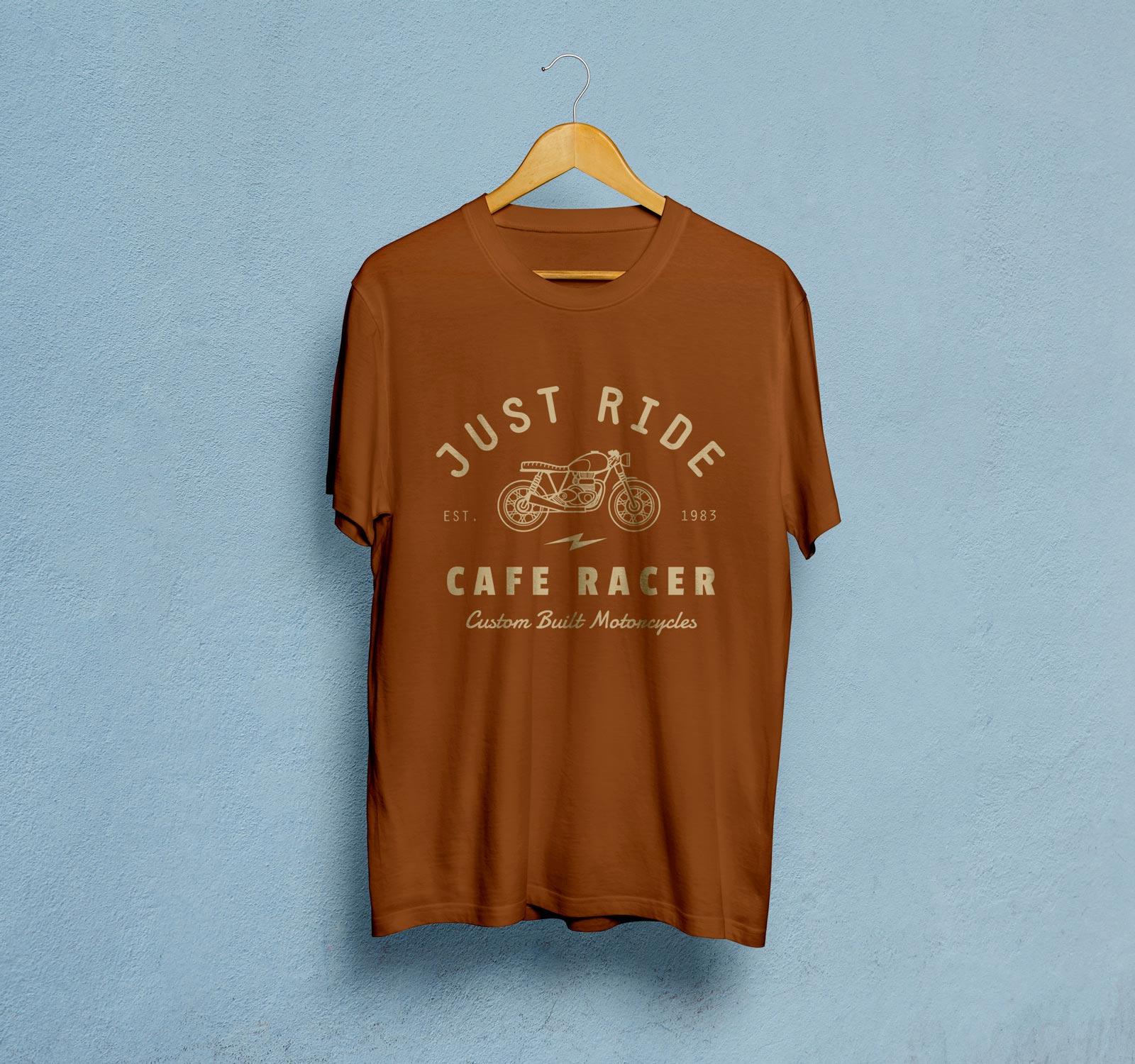 Free-Brown-Half-Sleeves-T-Shirt-Mockup-PSD-File