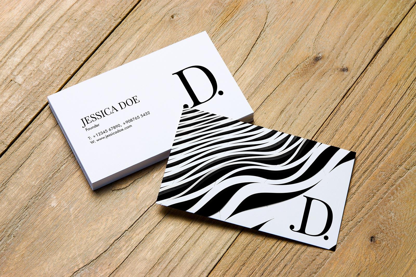2 Beautiful Single & Double Sided Business Card Mockup PSD Files ...