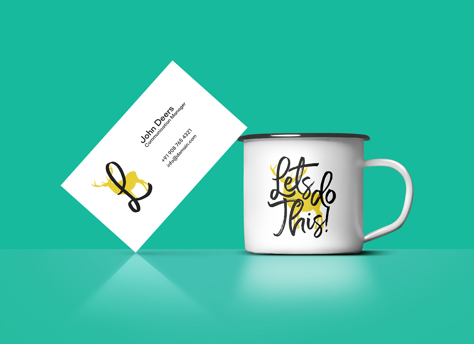 Free-Coffee-Cup-&-Business-Card-Mockup-PSD
