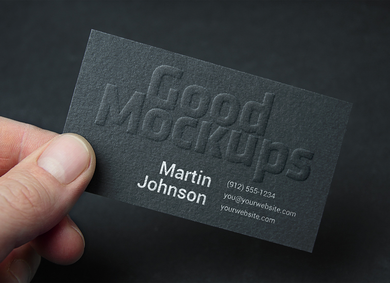 Free embossed business card logo mockup psd good mockups reheart Gallery