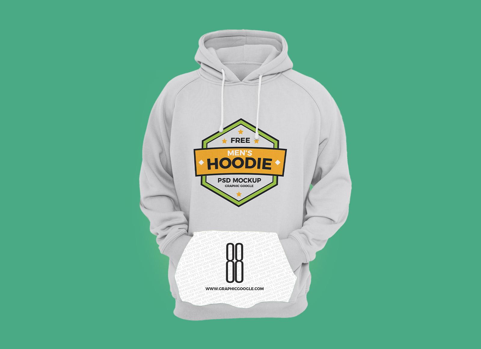 Download Free Men's Hoodie T-shirt Mockup PSD File - Good Mockups