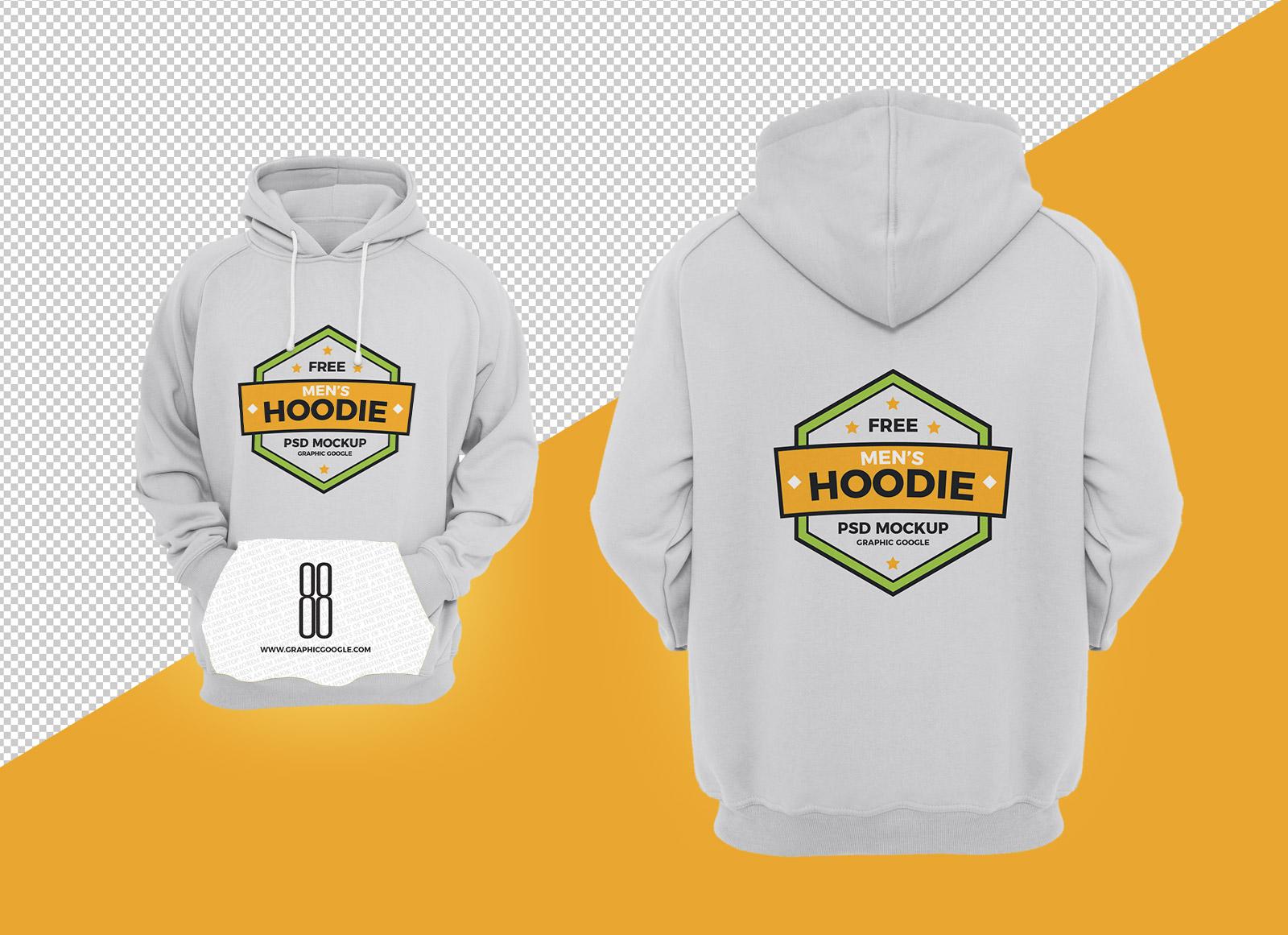 Free Men's Hoodie T shirt Mockup PSD File Good Mockups