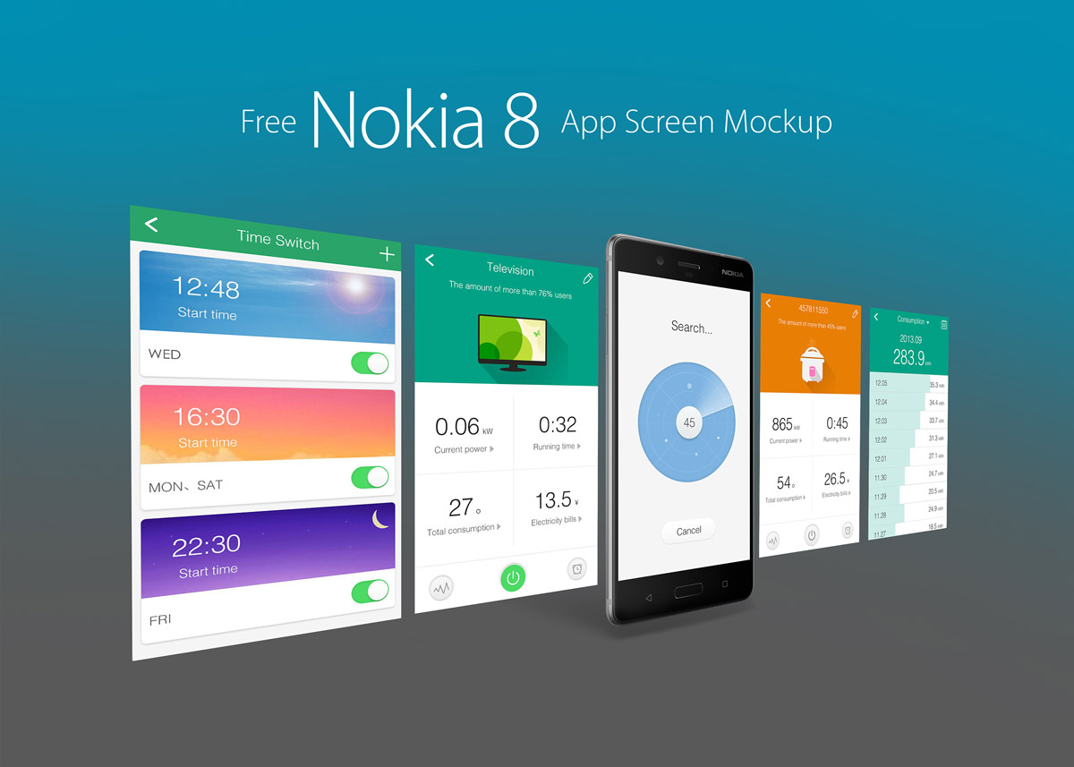 Free-Nokia-8-Andriod-Smartphone-App-Screen-Mockup-PSD-4