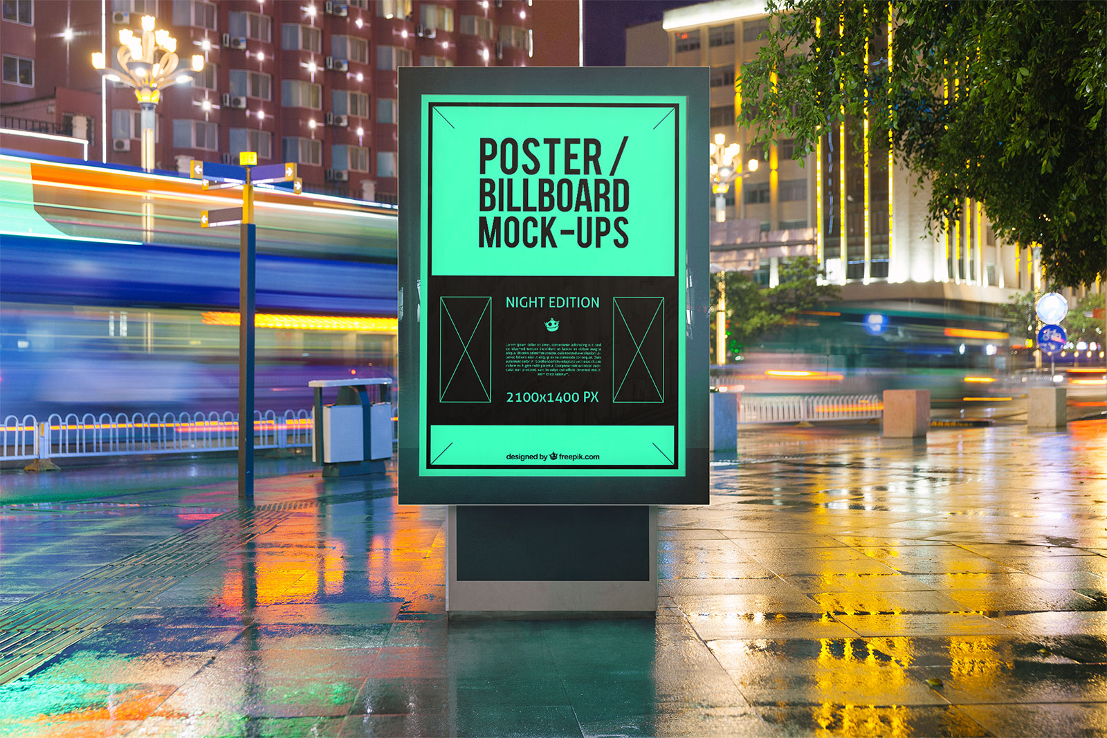 Free-Outdoor-Advertising-Poster-Mockup-PSD