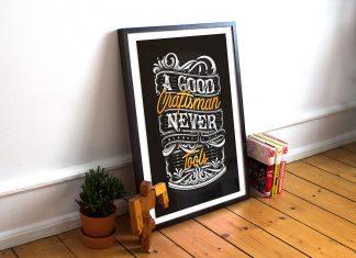 Free-Photo-Frame-Mockup-For-Typography-&-Illustrations-Presentations-2