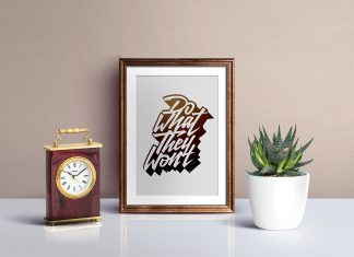 Free-Picture-Frame-Mockup-PSD-For-Typography-&-Illustration