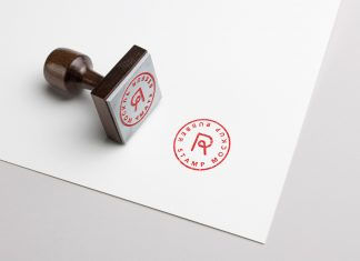 Free-Rubber-Stamp-Logo-Typography-Mockup-PSD