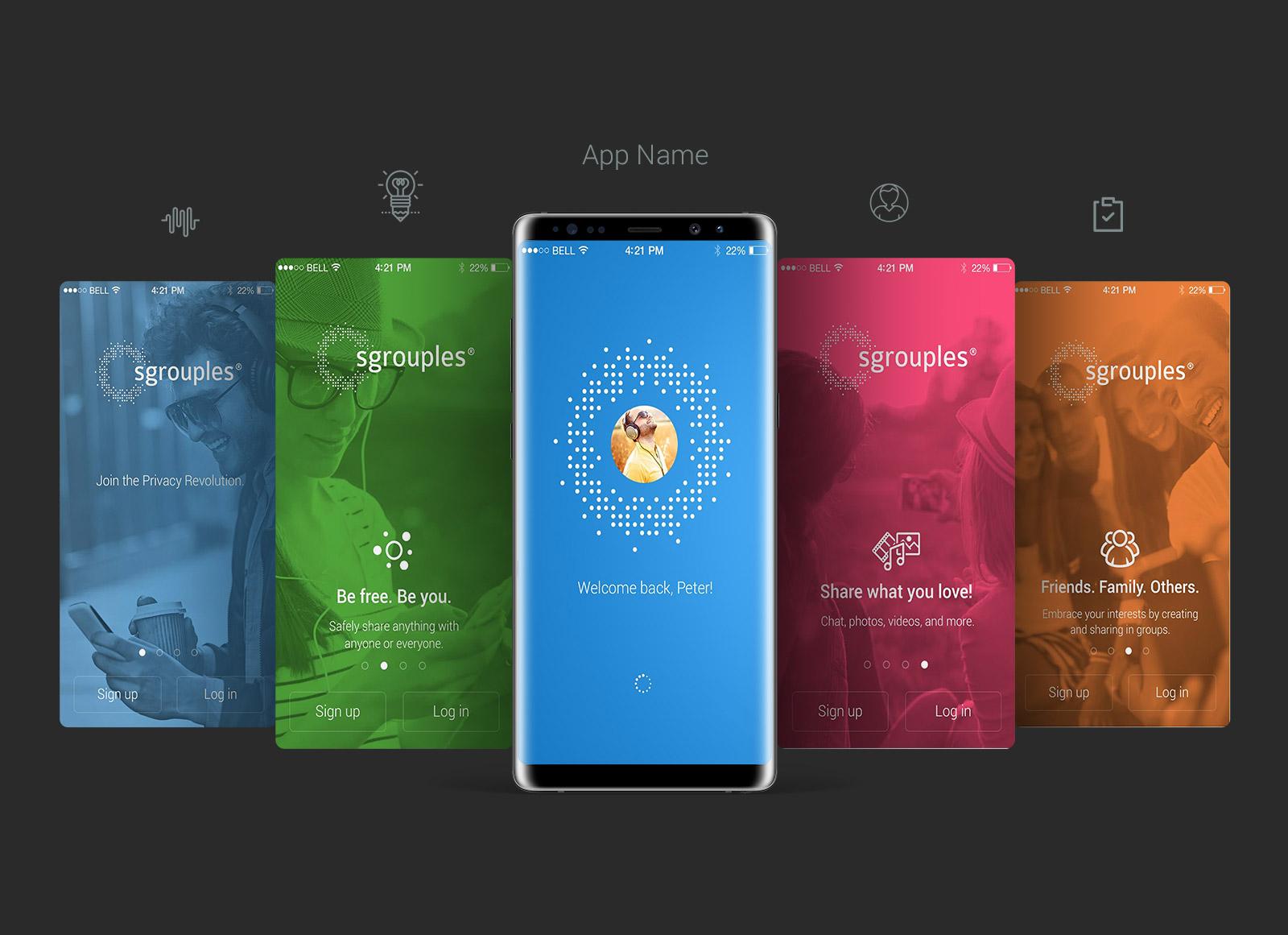 free samsung galaxy note8 app screen mockup psd good mockups