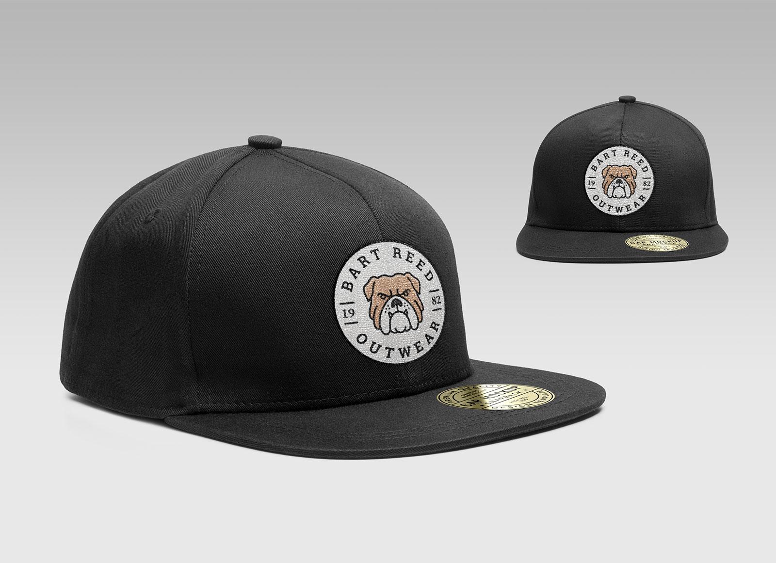 Free-Snapback-Men's-Cap-Mockup-PSD-With-Woven-Logo-4