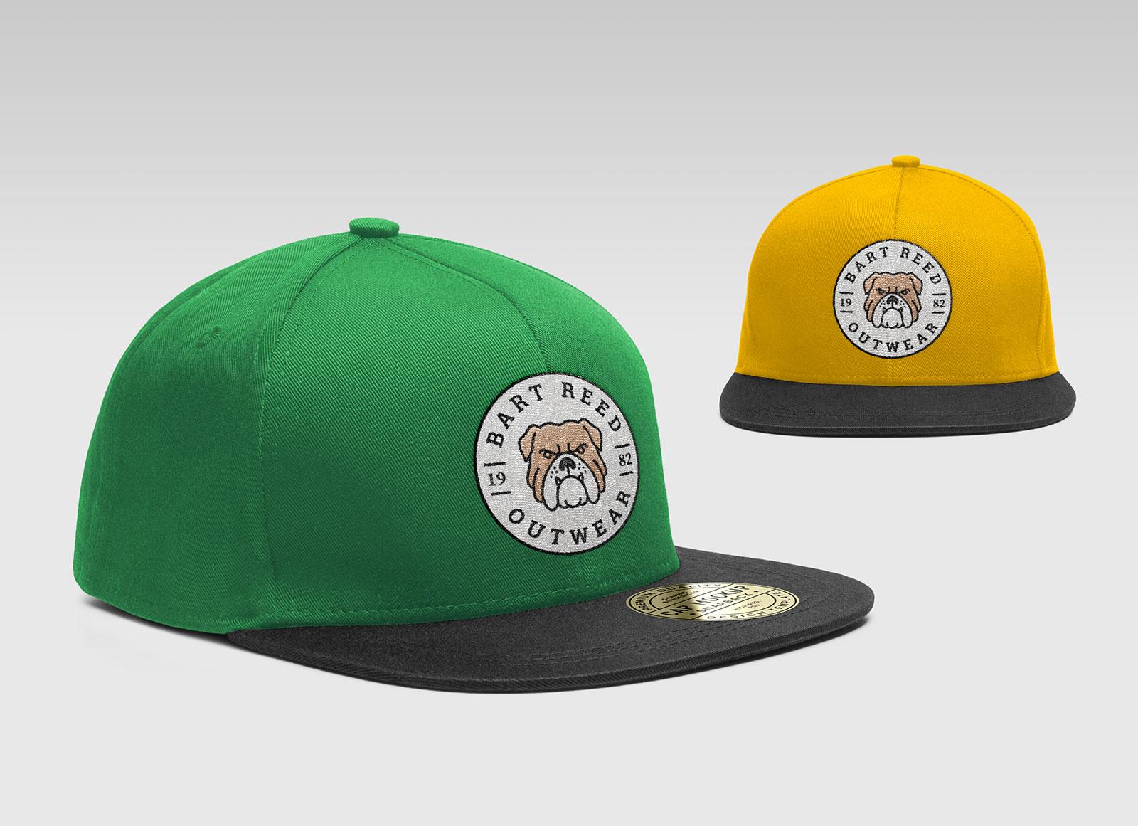 Free-Snapback-Men's-Cap-Mockup-PSD-With-Woven-Logo-5