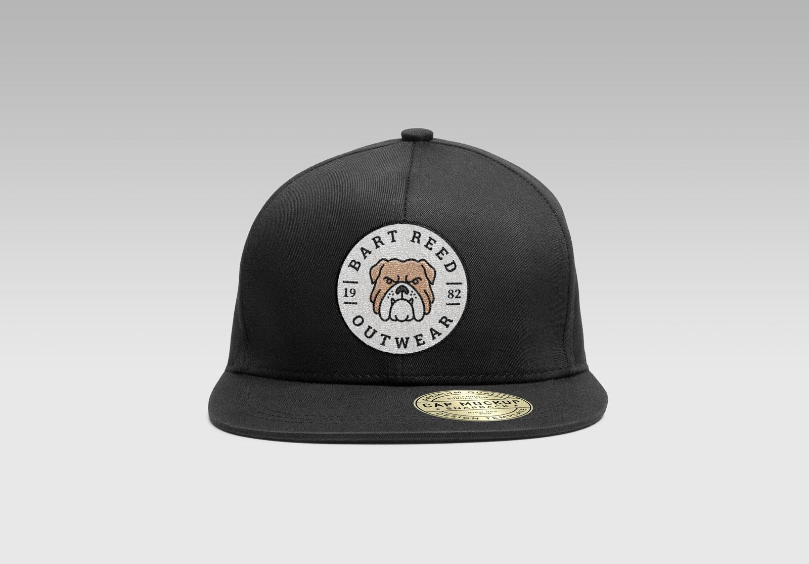 Free-Snapback-Men's-Cap-Mockup-PSD-With-Woven-Logo