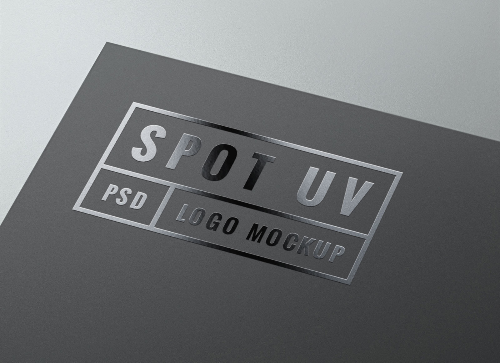 Free Spot UV Coating Logo Mockup PSD - Good Mockups