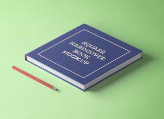 Free-Square-Hard-Cover-Book-Mockup-PSD