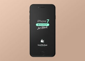 Free-iPhone-7-Jet-Black-Mockup-PSD-Set