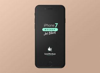 Free-iPhone-7-Jet-Black-Mockup-PSD-Set