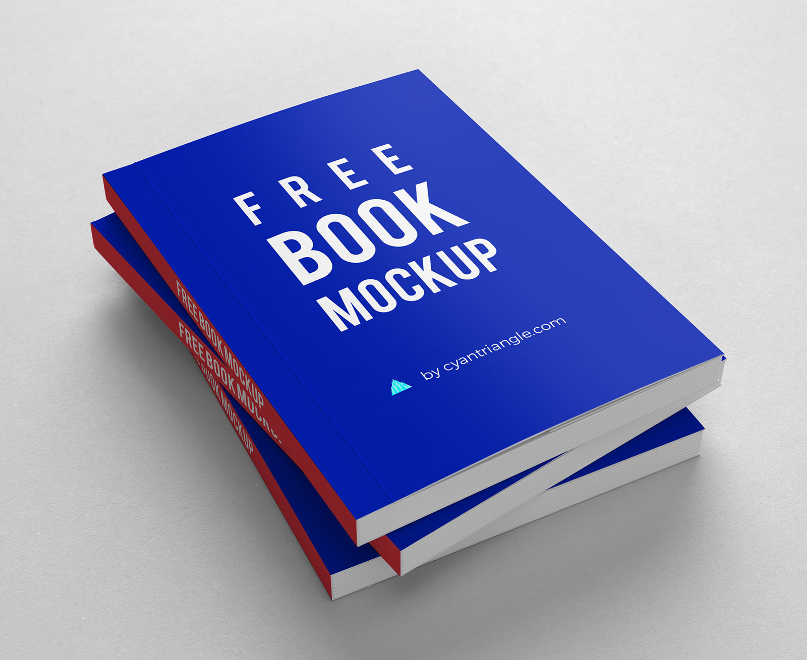 10 free hardcover book mockup psd set