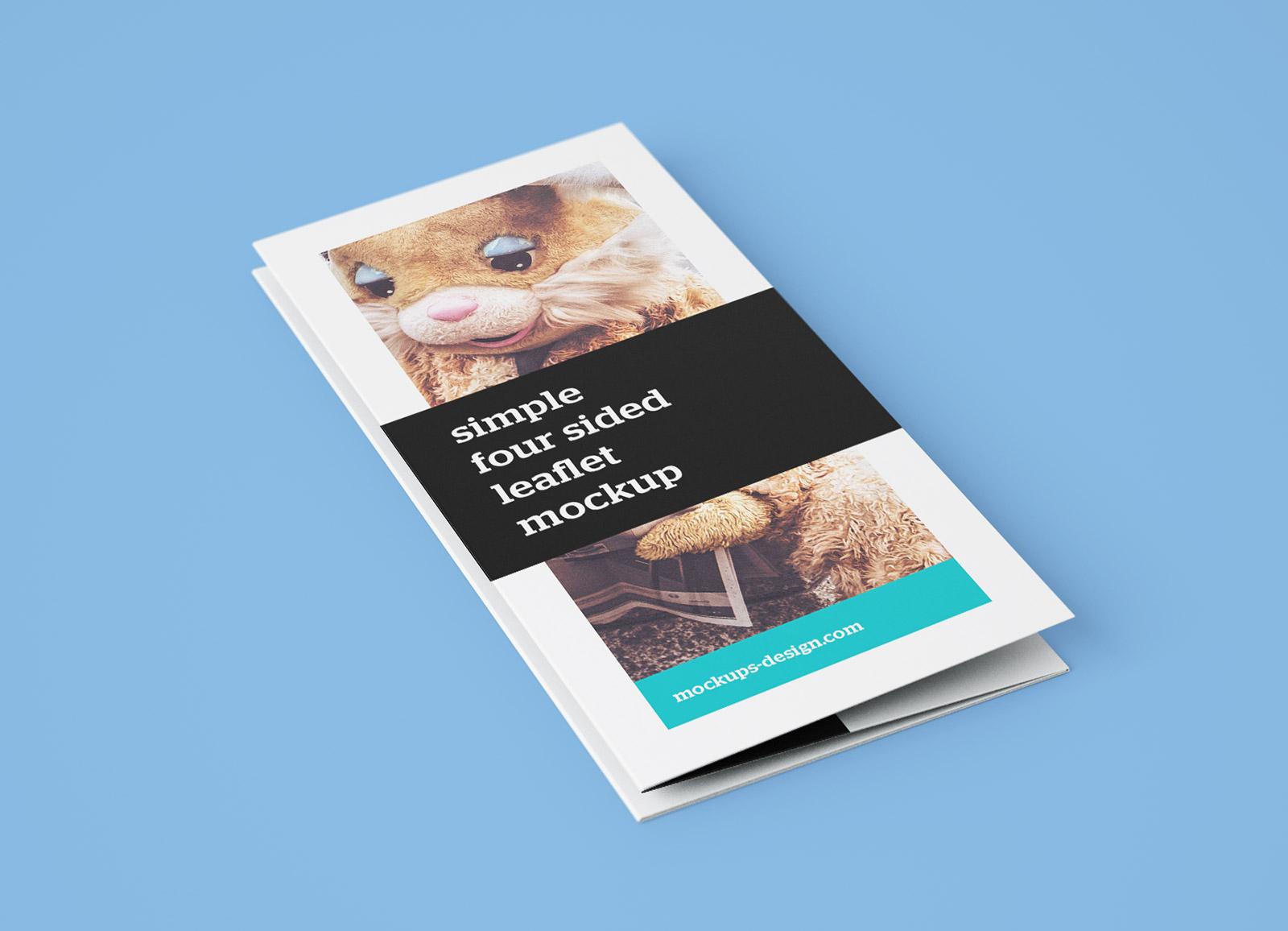 Free Accordion 4-Fold Brochure Leaflet Mockup PSD Templates (5)