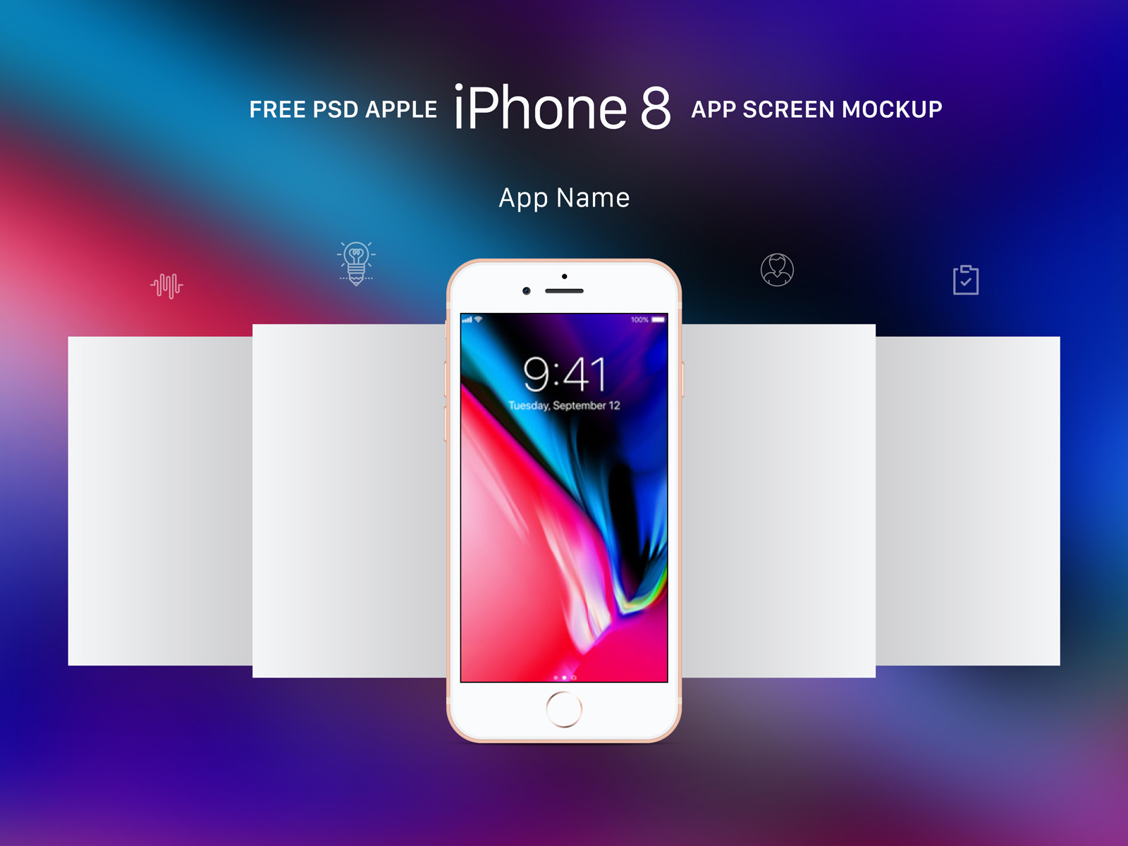 Free-Apple-Gold-iPhone-8-App-Screen-Mockup-PSD