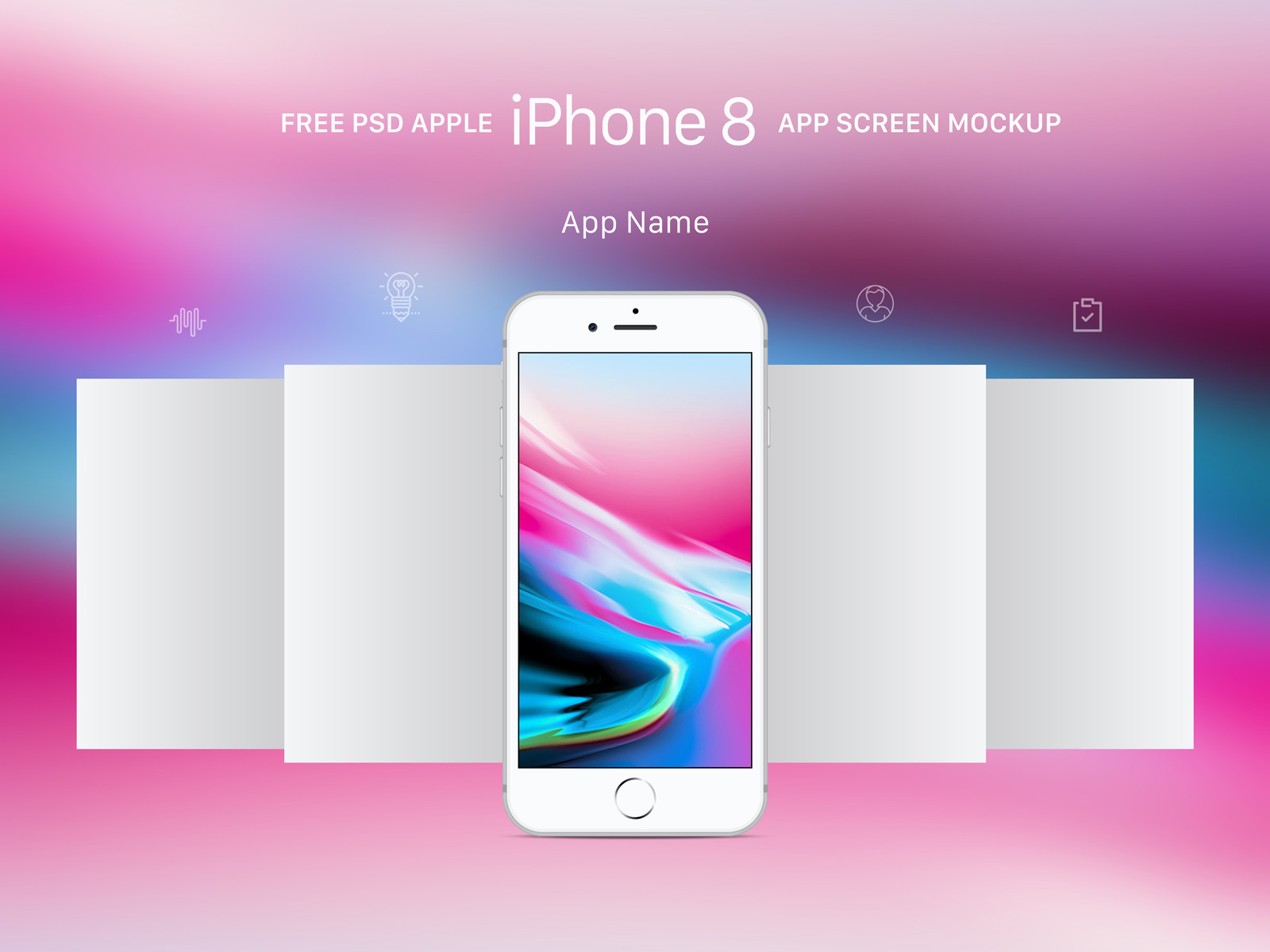 Free-Apple-Gray-iPhone-8-App-Screen-Mockup-PSD