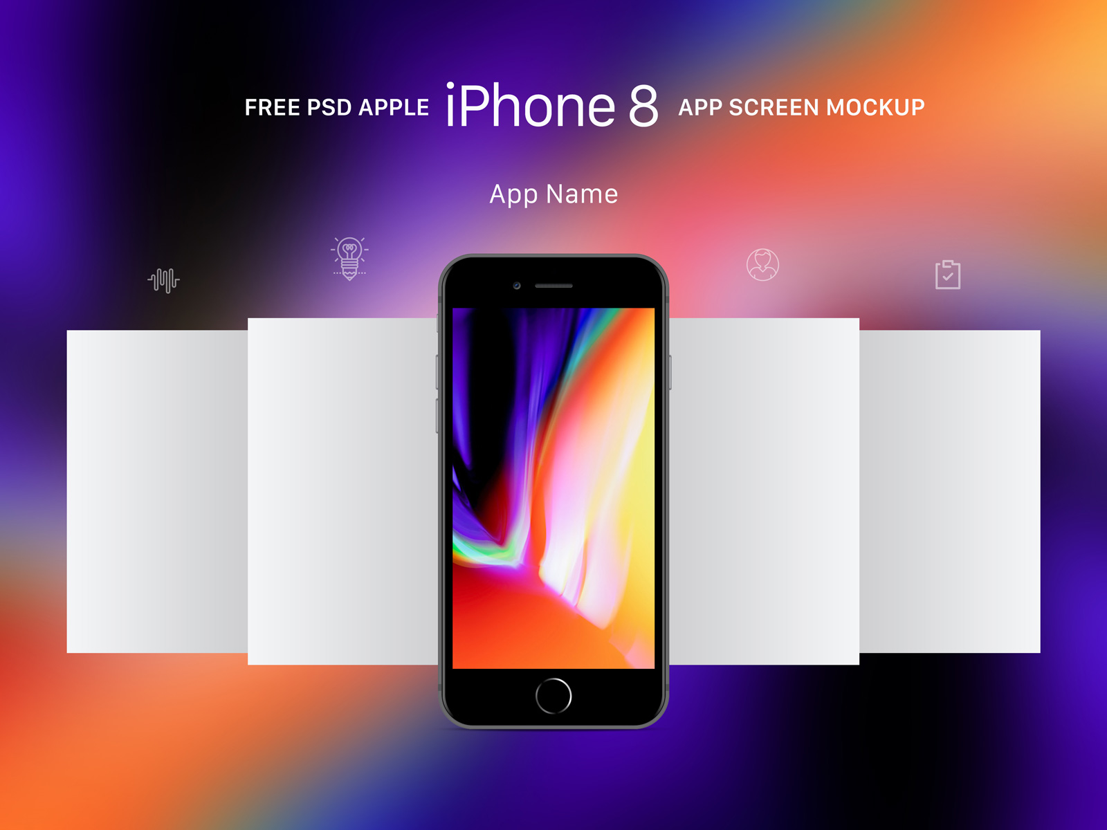Free apple gold gray space gray iphone 8 app screen mockup psd free space gray apple iphone 8 app screen mockup psd thecheapjerseys Image collections