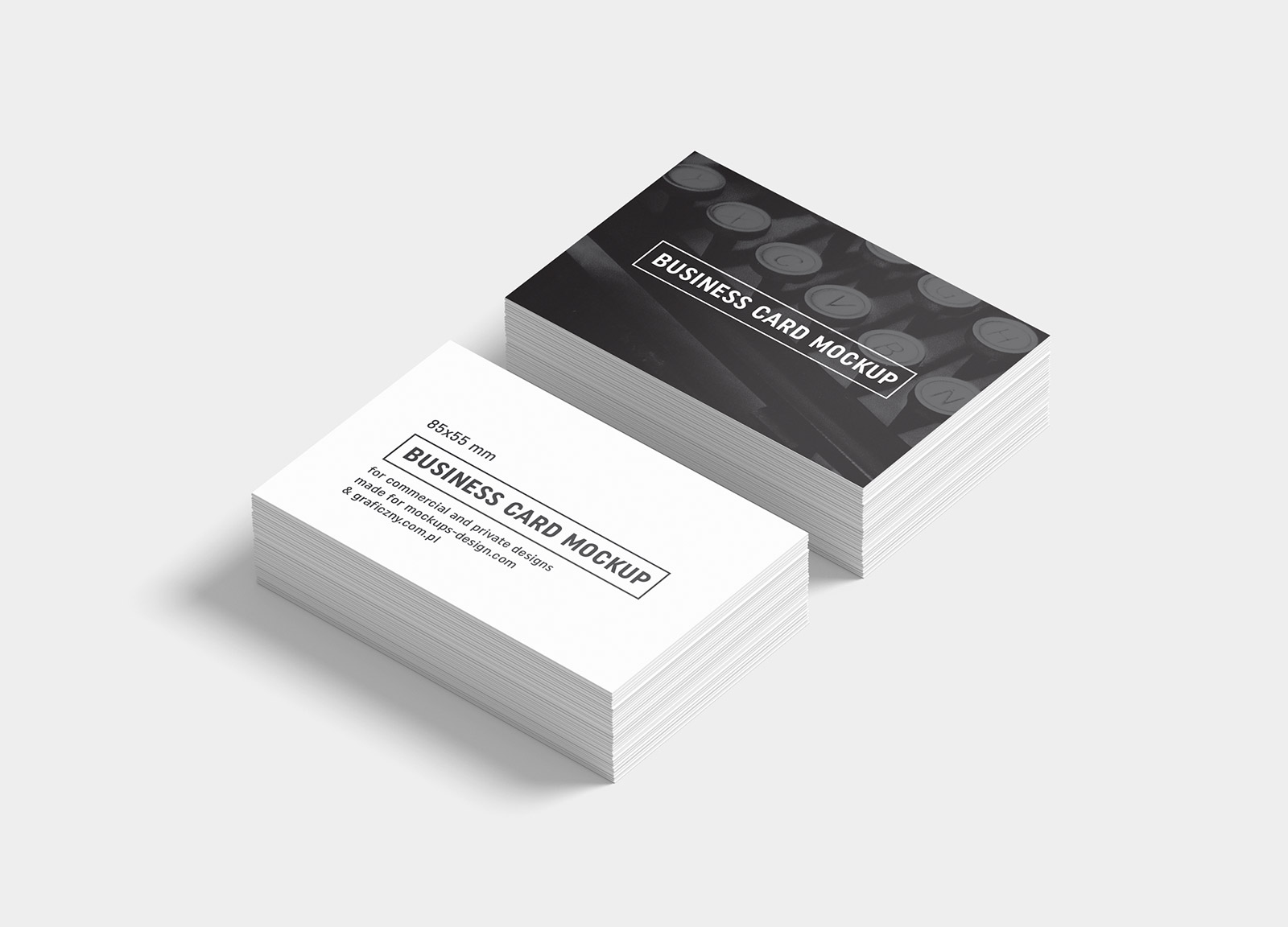 Free Black White Business Card Mockup Psd Templates Good Mockups