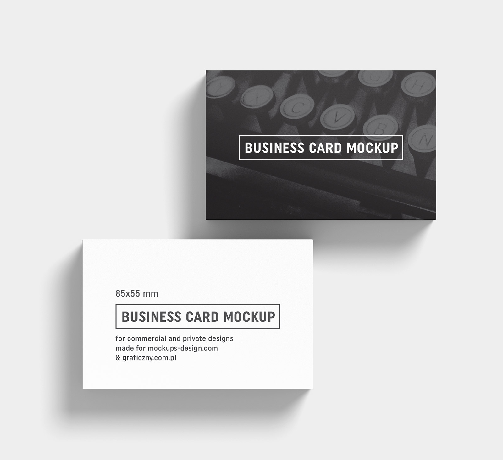 free black  u0026 white business card mockup psd templates