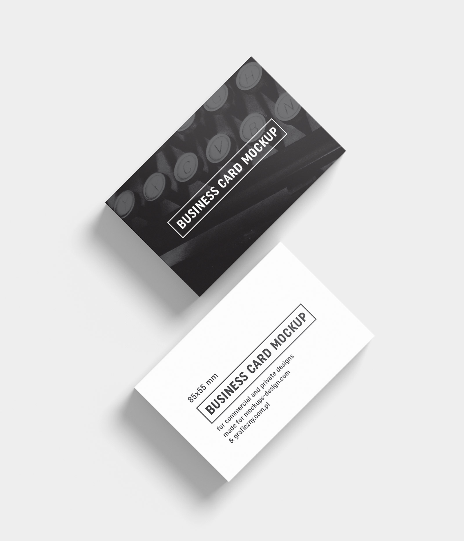 Free Black & White Business Card Mockup PSD Templates Good Mockups